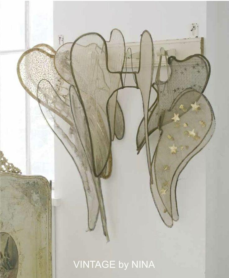 ❥ vintage by nina~ angel wingsAtelier De, Angel Wings, Vintage, Nina Hartmann, Fairies House, Christmas, Angels Wings, Ate De, Country