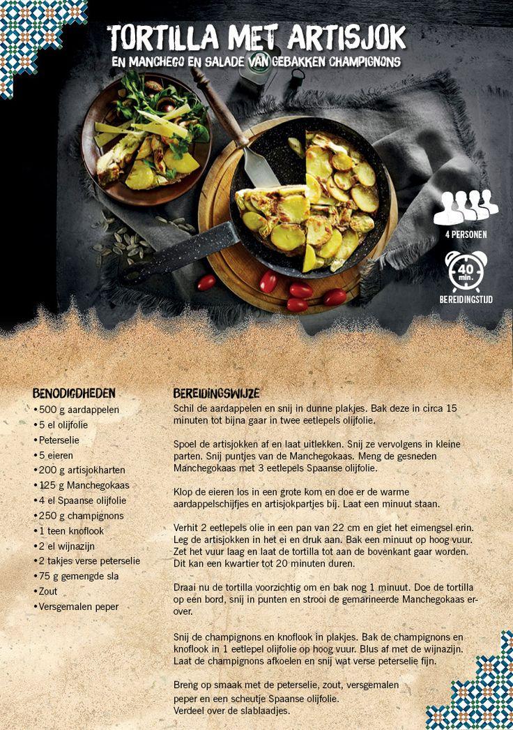 Tortilla met artisjok en Manchego en salade van gebakken champignons - Lidl Nederland