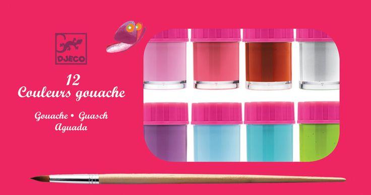 Djeco-Kids Art Supplies-Gouache Paints {Girl}