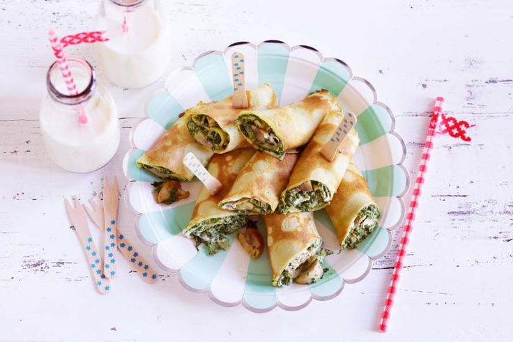 Kinderen die van spinazie houden, kunnen hun geluk niet op: het zijn óók nog pannenkoeken!- Recept - Allerhande