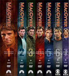 Macgyver (TV Series 1985–1992) S1-7 DVD cast: Richard Dean Anderson, Dana Elcar, Stephen Chang, Bruce McGill, Robin Mossley & more.