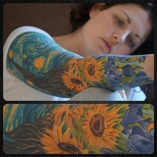 Displaying a work of art on your body so that you and others can stare at it all the time* is probably the coolest idea ever.   27 Themed Tattoo Sleeves That Are Basically Works Of Art