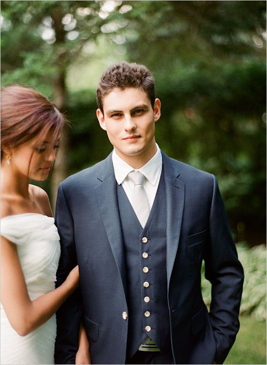 blue and gray groom ideas