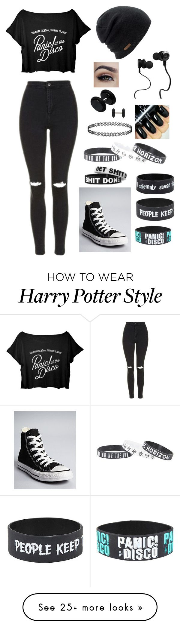 """Untitled #822"" by delioria on Polyvore featuring Topshop, Converse, Coal and Monster"