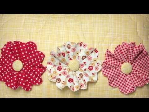 Download the free template to make your own creative fabrics flowers. http://plumgoodquilting.com/2013/05/28/fun-fabric-flowers/