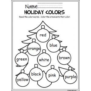 Practice colors with this holiday tree!