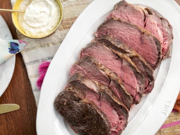 Easy Prime Rib with Fresh Horseradish Sauce Recipe | Valerie Bertinelli | Food Network