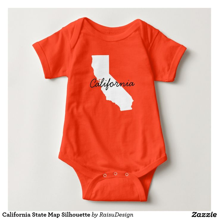 California State Map Silhouette T Shirt
