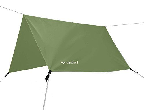 10 x 10 FT Lightweight Waterproof RipStop Rain Fly Hammock Tarp Cover Tent Shelter for Camping Outdoor Travel. For product & price info go to:  https://all4hiking.com/products/10-x-10-ft-lightweight-waterproof-ripstop-rain-fly-hammock-tarp-cover-tent-shelter-for-camping-outdoor-travel/