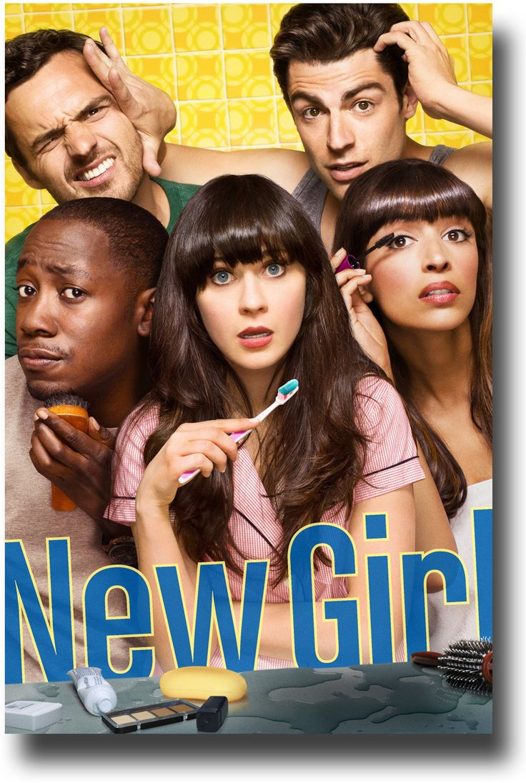 New Girl Poster - TV Show Promo Flyer 11 x 17 Mirror Poster for sale at concertposter.org #Zooey #NewGirl $9.84