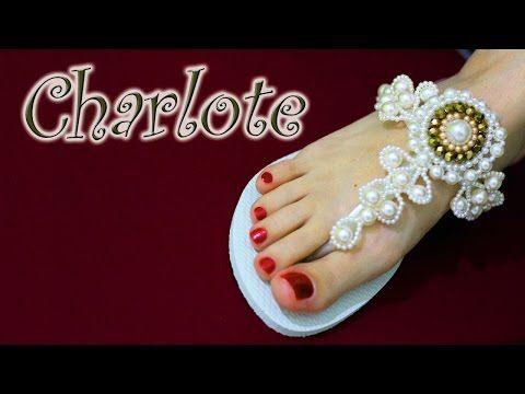 Chinelo decorado - Cabedal de pérolas e cristais - YouTube