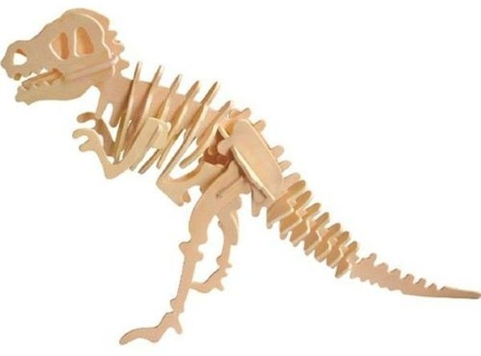 Puzzle drewniane 3D Dinozaur T-Rex - Zabawki