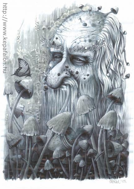 Mazán Mihály - Nyugalom című festménye