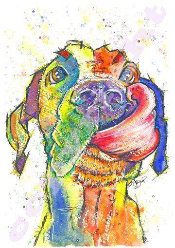 Great Dane Print of Original Watercolour Painting Watercolor Hound Dog Pup Puppy Animal Canine Artwork Gift Picture Art 5 sizes SEE DETAILS by JaPeyArtnStuff on Etsy https://www.etsy.com/listing/220779085/great-dane-print-of-original-watercolour