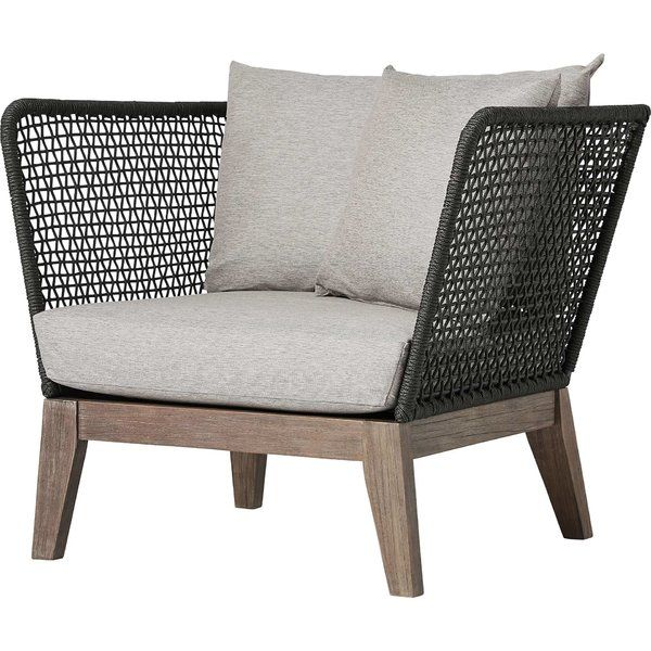 With A Beautiful Balance Of Materials This Netta Patio Chair Is A Modern Take On Outdoo Lounge Chair Outdoor Modern Outdoor Lounge Chair Modern Outdoor Lounge