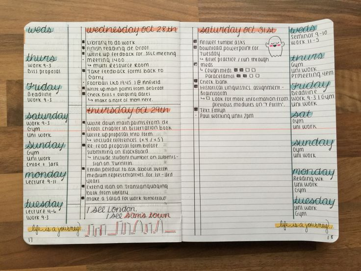 "study-read-study: ""31-10-2015 / So I've been asked by a few people to post my bullet journal setup so here it is! I still have some work to do with regards to my timetable pages so I haven't included..."