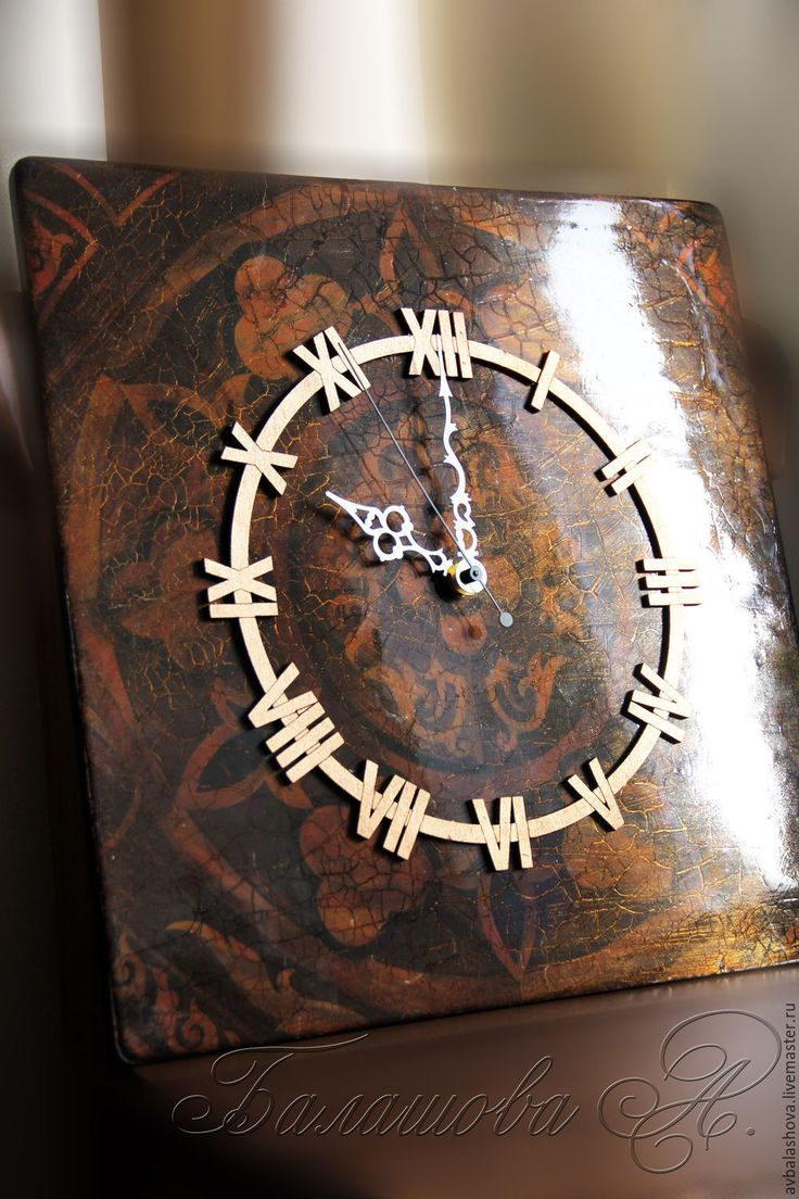 """Купить Большие часы """"Монументальная классика"""" - коричневый, большие часы, часы для гостиной, часы для кабинета"""