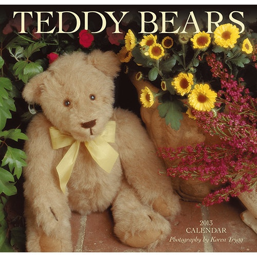 Teddy Bears Wall Calendar: Enjoy twelve adorable images of teddy bears at rest and at play throughout the seasons.  $7.99  http://calendars.com/Toys-and-Teddy-Bears/Teddy-Bears-2013-Wall-Calendar/prod201300003204/?categoryId=cat00143=cat00143#