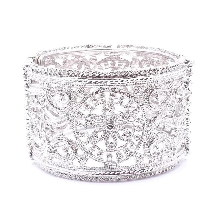 Amrita Singh Silver Ayau Cuff Bracelet