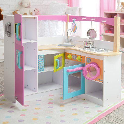 KidKraft Big & Bright Grand Gourmet Corner Kitchen - Play Kitchens at Hayneedle
