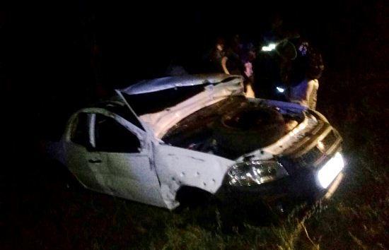 #LEIAMAIS WWW.OBSERVADORINDEPENDENTE.COM VALENTE:  Capotamento de veículo mata jovem e deixa dois feridos no trecho Valente/São Domingos