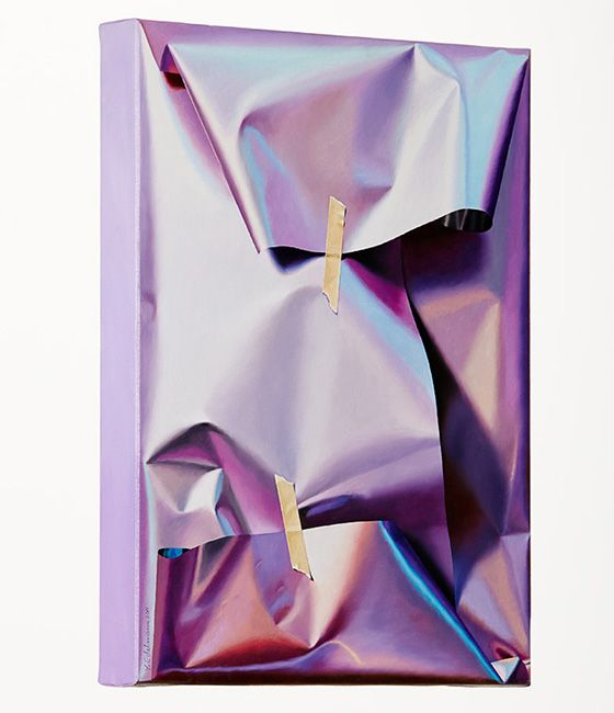 inspiration   nonfancy gift wrap (shiny paper with lots of crumples)