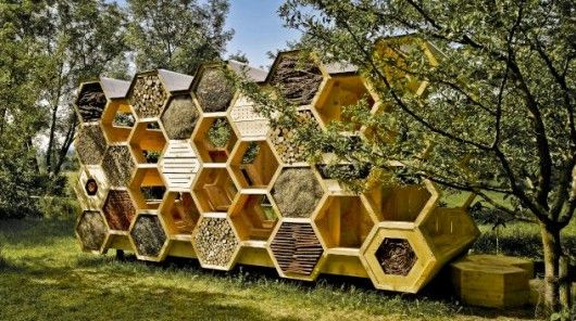 French Architecture Studio AtelierD has designed a pavilion for both bees and humans (Phot...
