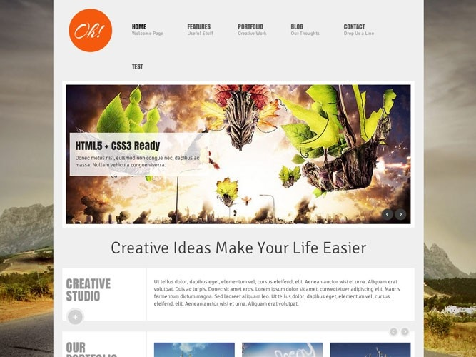 centered page with big background image - and responsive!