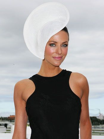 #blackandwhite Esther Anderson looking elegant at the 2011 Derby Day
