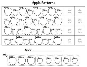 apple math patterns label the apple math patterns apple apple theme. Black Bedroom Furniture Sets. Home Design Ideas
