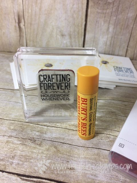 Beeswax Lip Balm, Clear mount stamps stick on block, Stampin'Up!