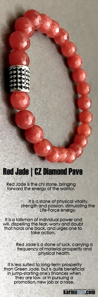 #BEADED #Yoga #BRACELETS  ♛ Red #Jade is the #chi stone, bringing forward the energy of the warrior. #Mens #Good #Luck  #womens #Jewelry #Eckhart #Tolle #Crystals #Energy #gifts #Chakra #Healing #Kundalini #Law #Attraction #LOA #Love #Mala #Meditation #prayer #Reiki #mindfulness #wisdom #CrystalEnergy #Spiritual #Tony #Robbins #Gifts #friendship #Stacks #Lucky #birthday