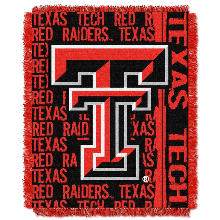 Texas Tech Red Raiders Jacquard Throw Blanket by Northwest, Multicolor