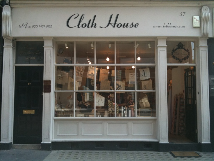 the cloth house in london love the display. Black Bedroom Furniture Sets. Home Design Ideas