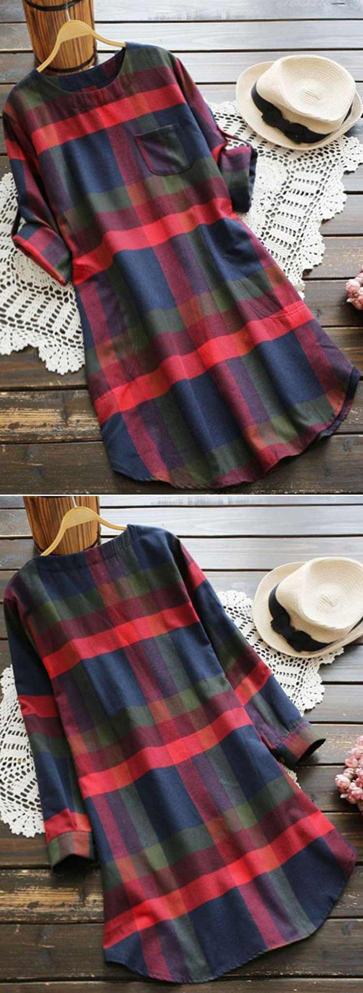 Hahaa! Enjoy 15% off for pre-order! Plaid lovers now get with $21.99 Only! This midi dress detailed with Zip&Pocket at side gonna be your favorite stuff for this coming season! This amazing piece is available at Cupshe.com