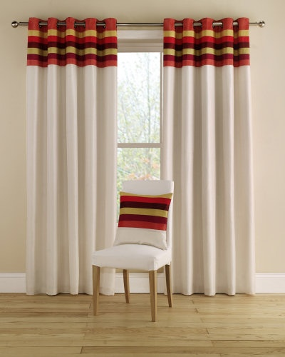Funky Kitchen Curtains: A Multi-coloured, Striking Bordered Curtain In Funky