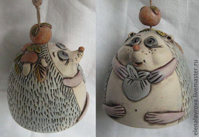 """Купить Колокольчики """"Зверушки"""" - керамический колокольчик, фигурки животных…"""