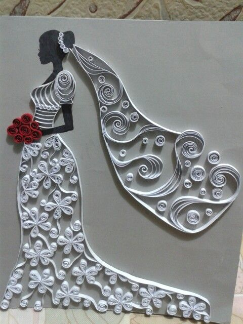 Quilling bride... Made by me :)