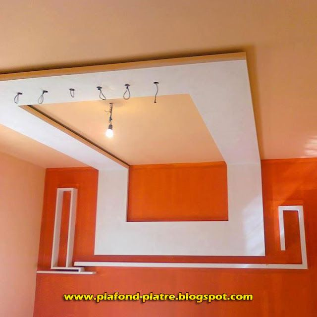 58 best images about faux plafond on pinterest models for Decoration platre plafond