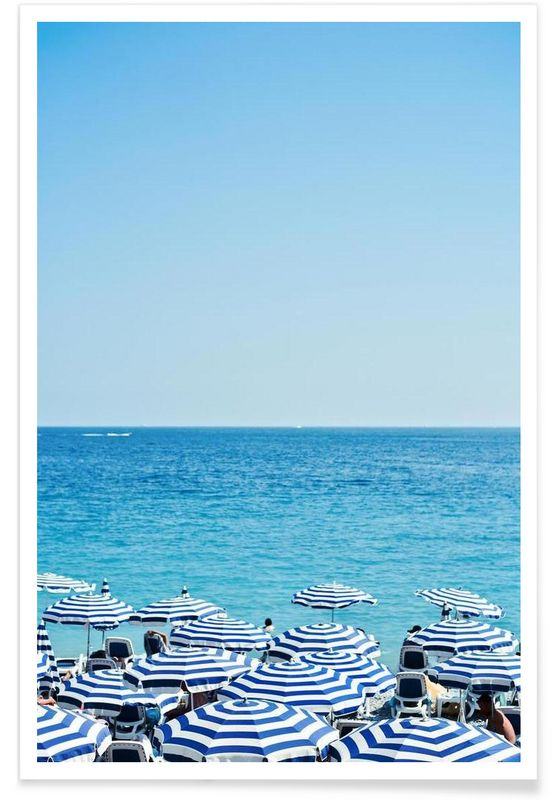 Hues Of Blue as Premium Poster by Cordula Schaefer   JUNIQE