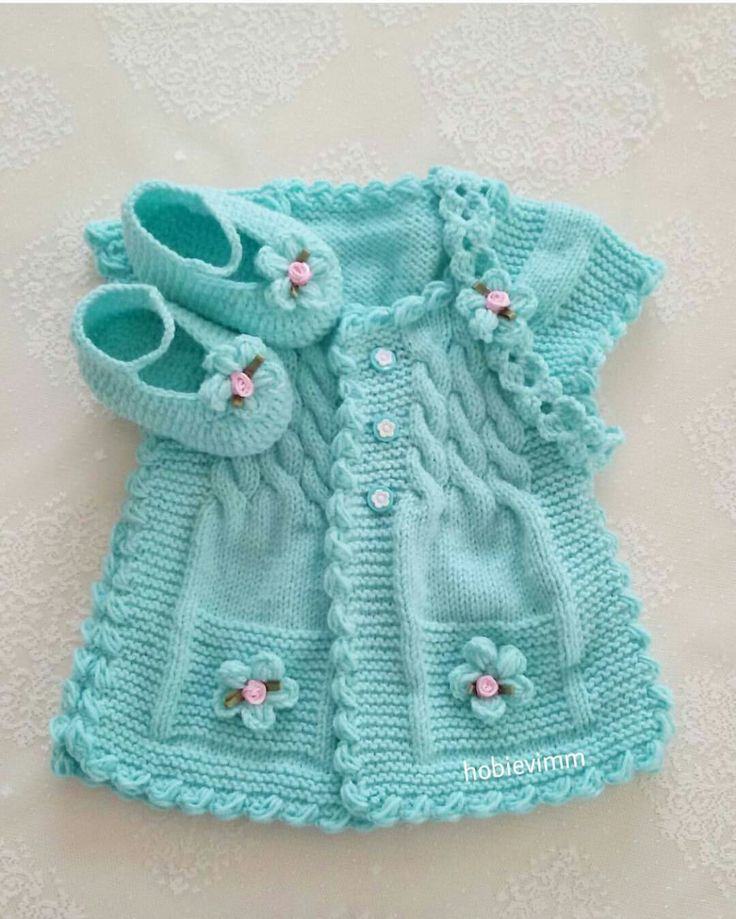 Hermoso chaleco de bebe color  | <br/>    Of