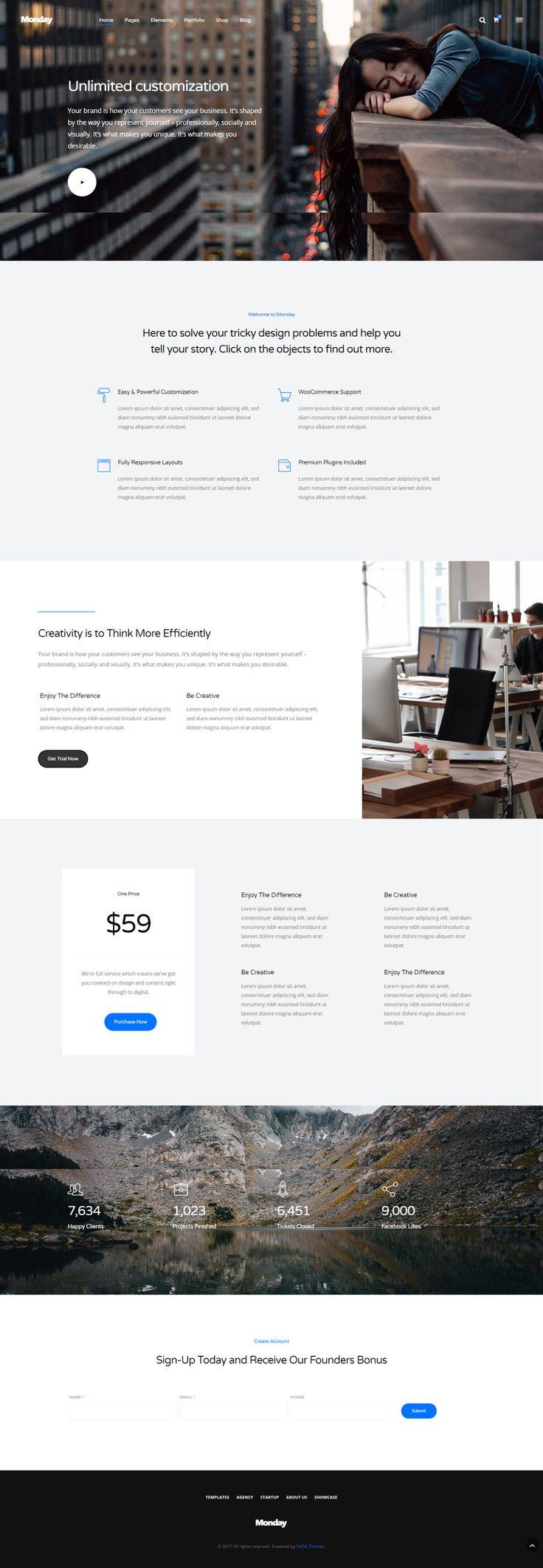 - f28d4253e02da8ffd79dfdbe88c6746b - Monday is a multi-purpose, modern, trendy, clean, creative, and powerful WordPress Theme