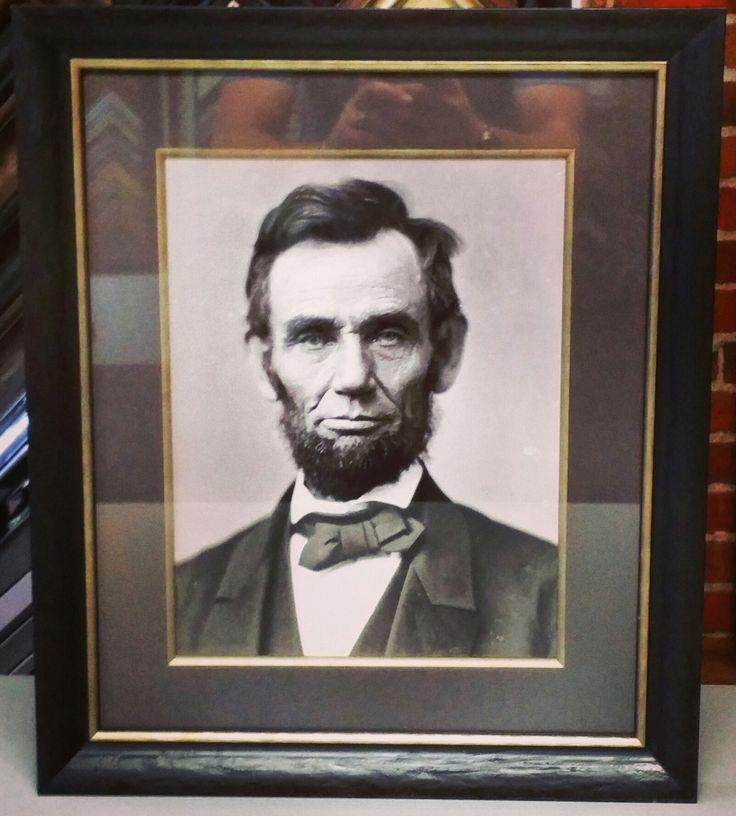 rare photograph of president abraham lincoln framed with larsonjuhls line conservation glass acid