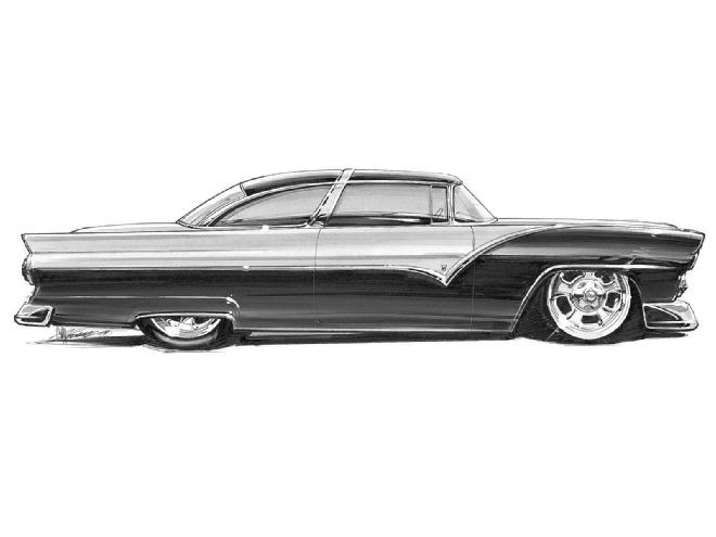 Hrdp 9808 04 O+1950s Shoebox Concept Drawings+1955 Ford Crown Victoria Concept