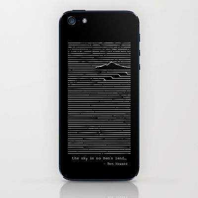 The sky is no man's land - Ben Howard iPhone & iPod Skin by steps6 - $15.00
