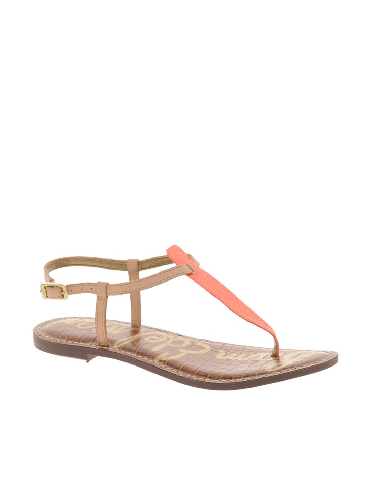 Sam Edelman Gigi Neon Flat Sandals