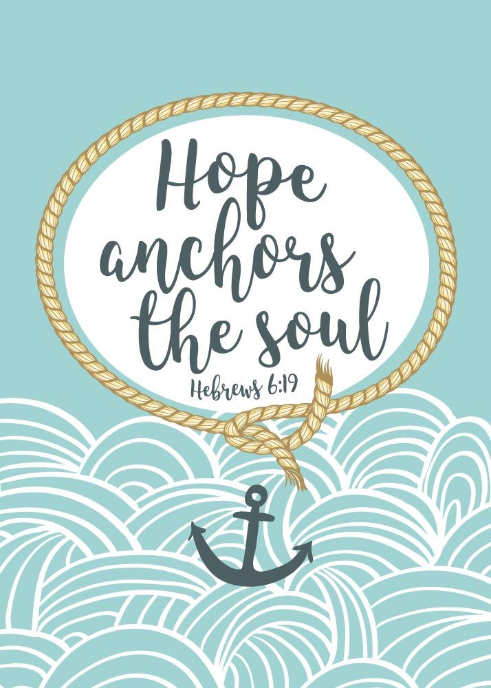 $5 Bible Verse Prints - We have this hope as an anchor Hebrews 6:19  Hope is what anchors our soul so our faith doesn't waiver during the storms in life. It keeps us moving forward knowing God will take care of us. Not one day has passed that he doesn't know about. He knows every detail. We are completely in His hands and that's where our hope comes from. He is our anchor. - Different size options available. #hopeanchorsthesoul