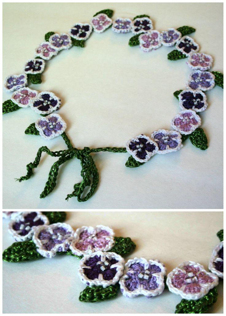 Lilac headband (DMC floss)