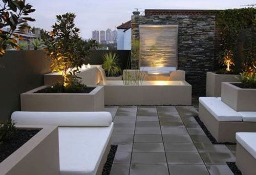 Sophisticated H2O Outdoor Water Features Roof Garden Landscape Design - a new concept of architecture, modern house design, landscape and home improvement on bodew.com