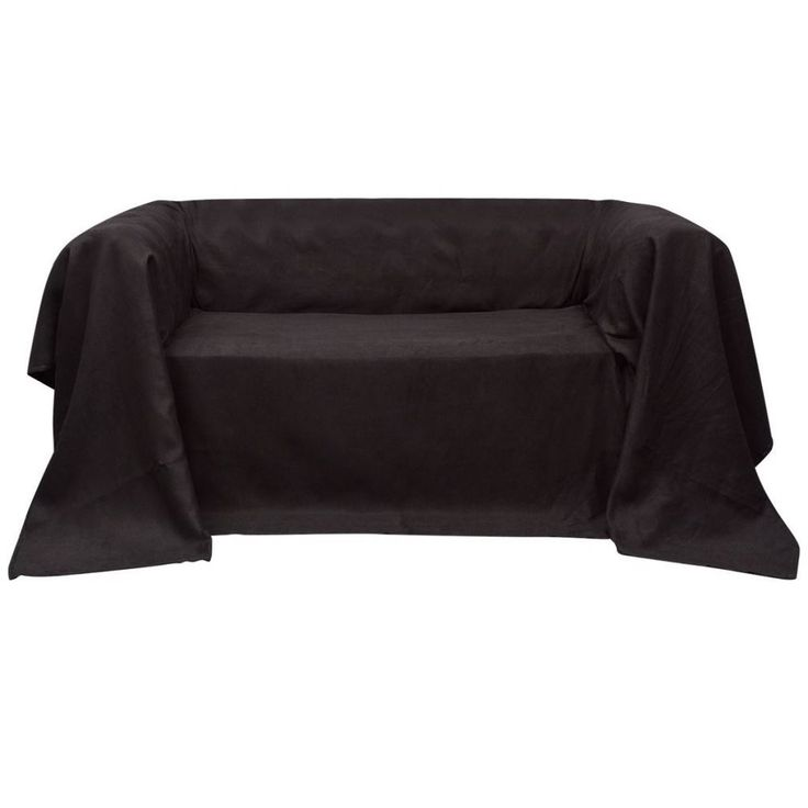 Tagesdecke Decke Plaid Überwurf Sessel Sofaüberwurf Wildlederoptik 210x280cm Neu #vida